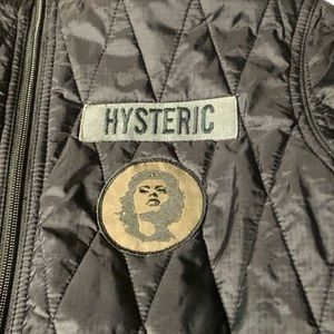 Hysteric Glamour Quilted Ladies Small Black Jacket